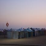 plage de Nazaré le soir